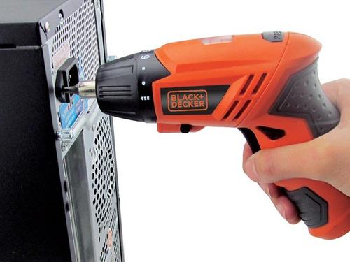 destornillador inalámbrico black&decker+accesorios kc4815