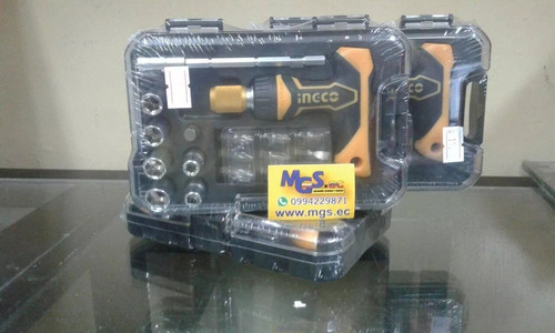 destornillador industrial con accesorios marca ingco