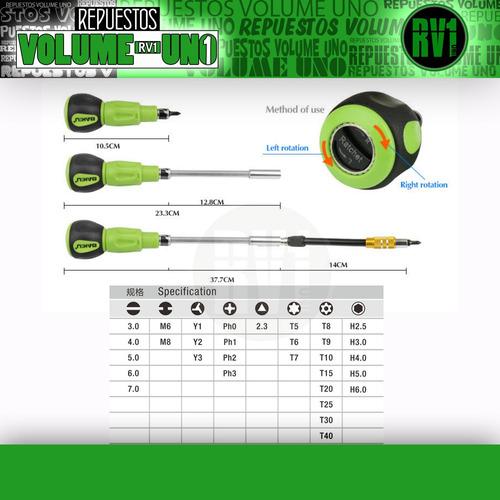 destornillador magnetico diversas puntas  baku bk 3034