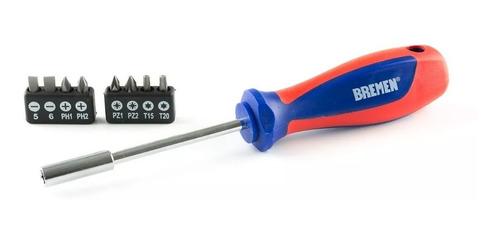 destornillador porta puntas bremen® 6759 enc 1/4 + 8 puntas
