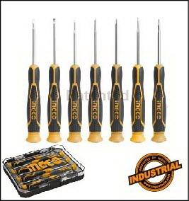 destornillador precision juego 7 unidades  ingco hksd0718