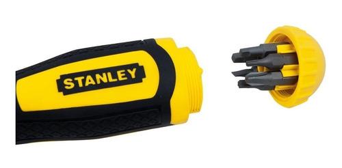 destornillador ratchet + 10 puntas intercambiables stanley