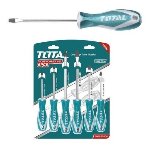 destornillador (set o juego) x6 punta magnética total tools