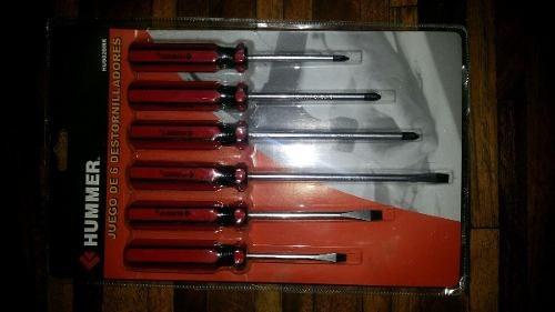 destornilladores 6 piezas marca hummer