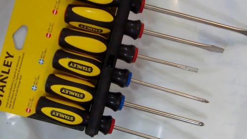 destornilladores juego de 6 unidades stanley cod 22