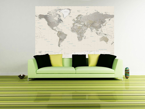 Detailed world map wall decal neutral tones peel stick detailed world map wall decal neutral tones peel stick gumiabroncs Image collections