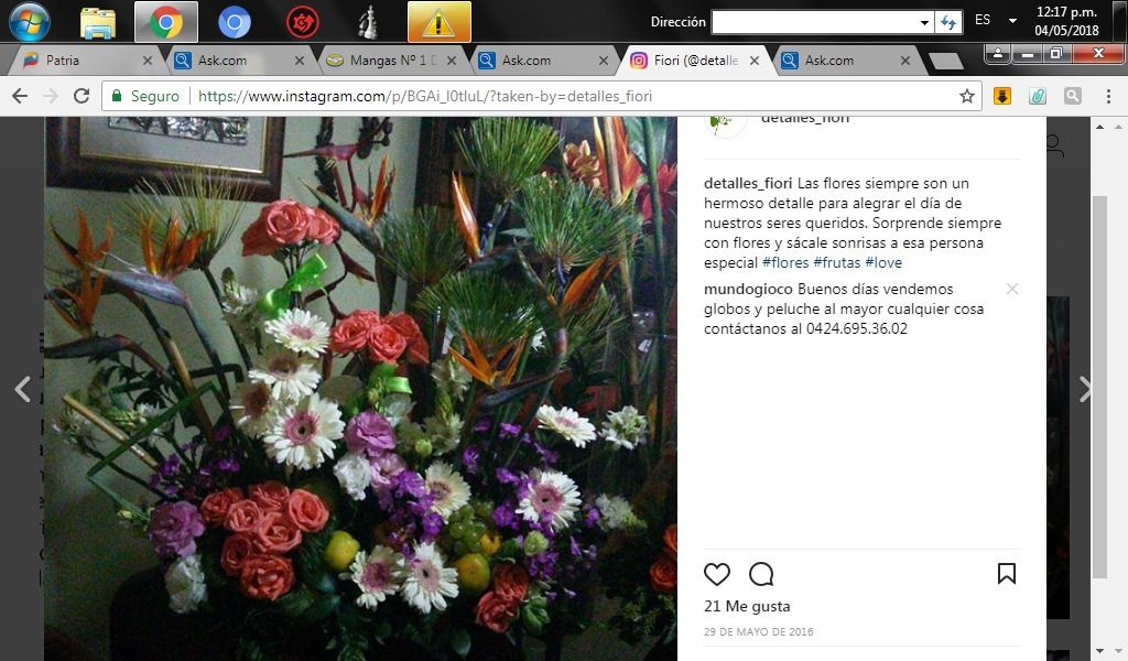 Detalles Y Arreglos Florales Bs 045 En Mercado Libre - Detalles-florales