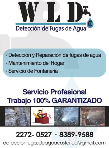 detección de fugas de agua y fontanería