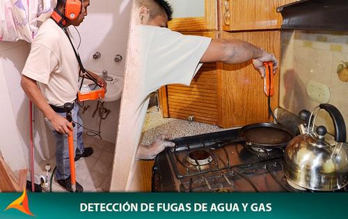 deteccion de fugas de gas y agua reparacion  gasodomesticos.