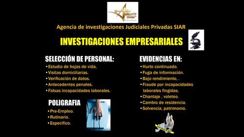 detectives pirvados investigadores siar - cali colombia
