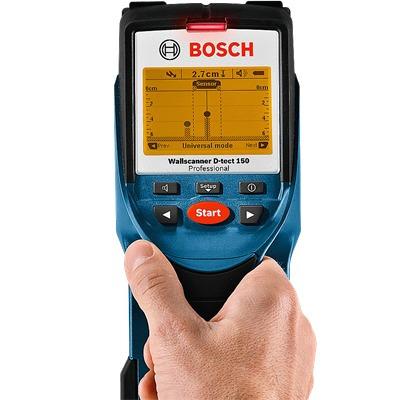 detector agua e materiais - d-tect 150 - bosch frete gratis!