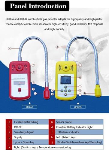 detector analizador de gases combustible explosimetro