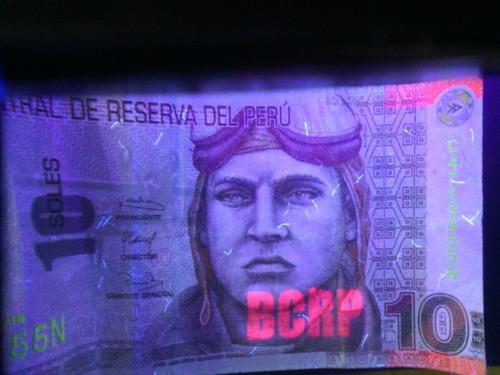 detector billetes falsos con luz uv, blanca lupa+obsequio!!!