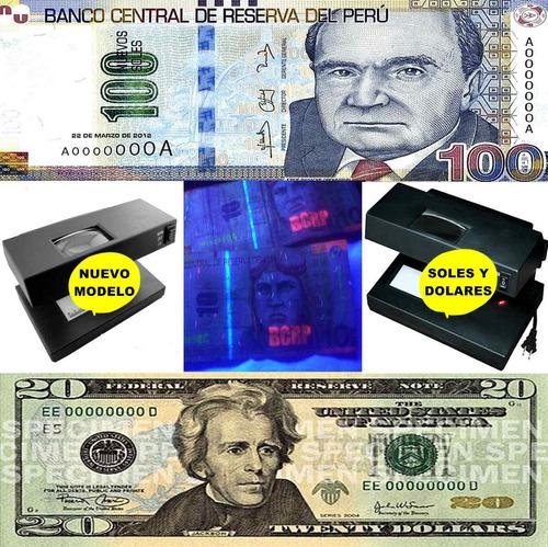 detector billetes soles falsos + instruciones + informacion