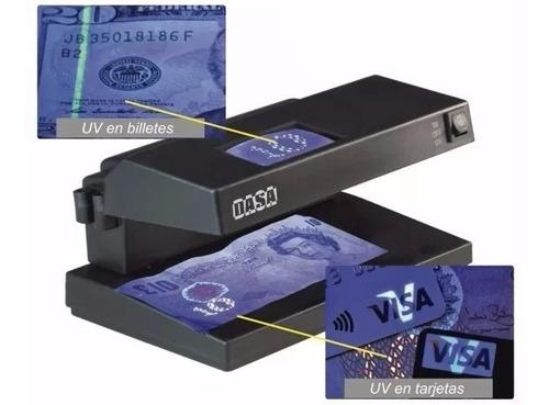 detector de billetes falsos dasa 3 en 1 uv - mg - lupa - luz