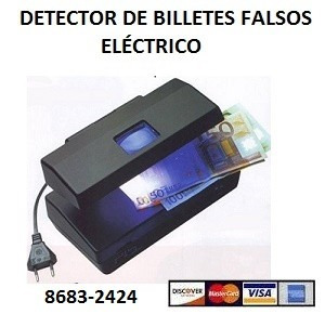 detector de billetes falsos eléctrico. bazar, verdulería.