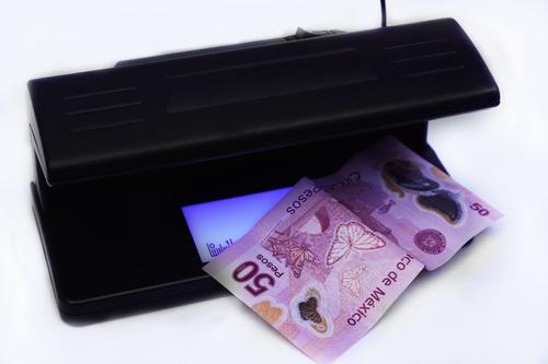 detector de billetes falsos lampara con luz ultra violeta 4w