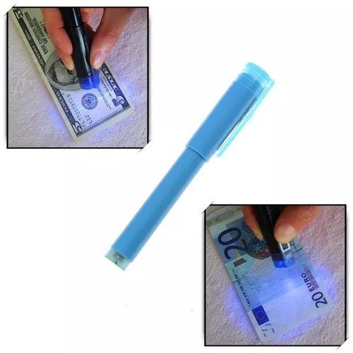 detector de billetes falsos lapiz marcador, luz uv,sellado