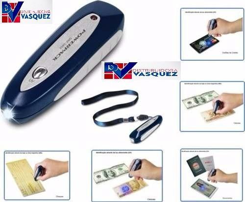 detector de billetes falsos luz ultravioleta y magnético