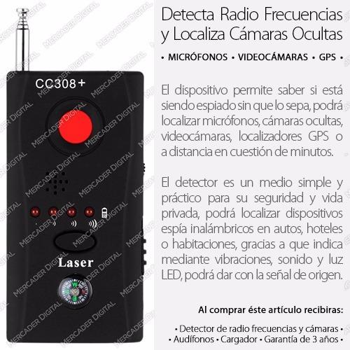 detector de cámaras ocultas y micrófonos + envío gratis
