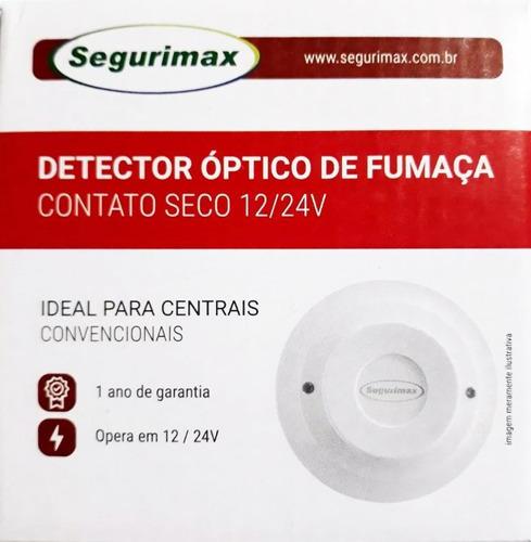 detector de fumaça incêndio óptico contato seco 12v/24v
