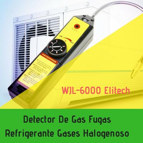 detector de gas fugas refrigerante gases halogenos