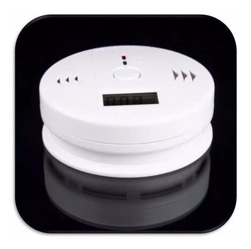 detector de gas monoxido carbono y humo (par)
