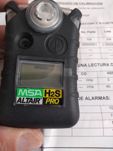 detector de gas msa altair pro h2s msa