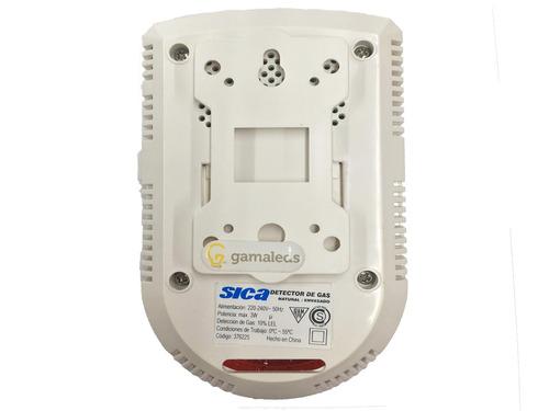 detector de gas natural envasado 220v alarma sonora sica