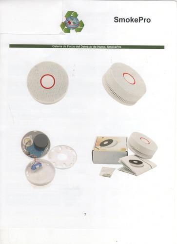 detector de humo con alarma de sonido y flash paq. 3 pzas,