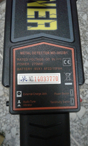 detector de metal manual portatil super scanner