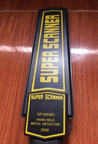 detector de metal super scanner (vibra y suena)