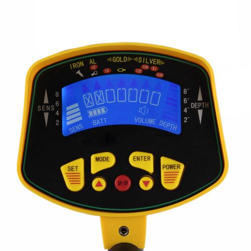 detector de metales md3010ii p/profundidad, impermeable lcd