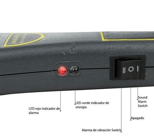 detector de metales scanner bateria recargable carga tx1001