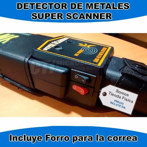 detector de metales super scanner
