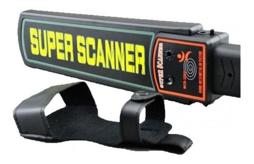 detector de metales tipo paleta con sonido luz y vibradora