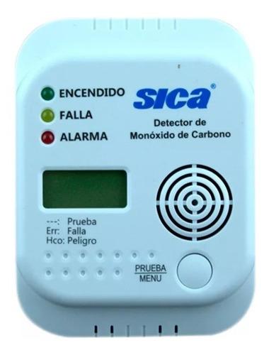 detector de monoxido de carbono sica alarma sonora