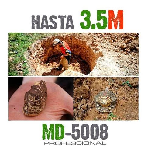 detector de oro y metales md5008 calidad 3.5 metros