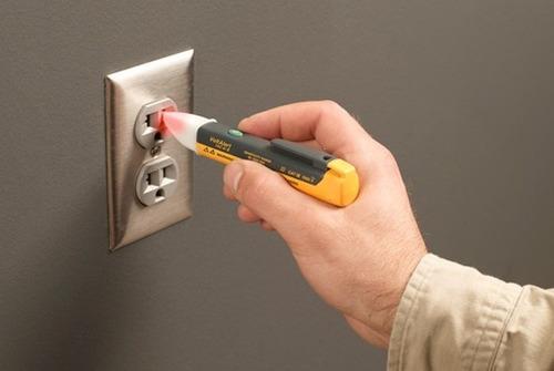 detector de voltaje sin contacto con luz, sonido nuevo
