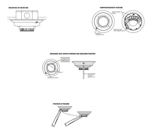 detector direccionable honeywell 5193-sdt, de humo fotoeléct