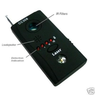 detector e localizador de cameras e escutas( mod cc308)