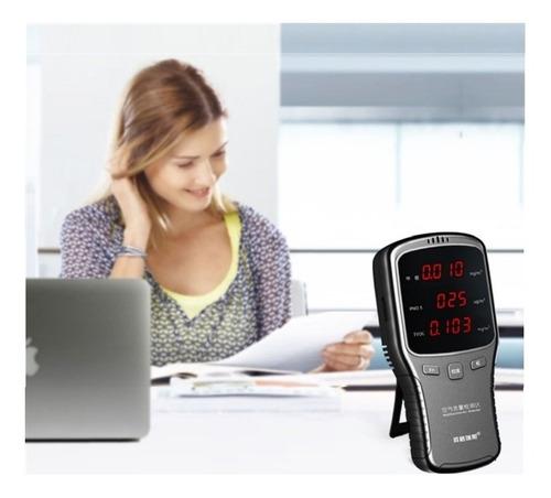 detector e medidor de qualidade do ar identificador compacto