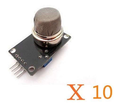 detector gas butano humo lpg hidrógeno 10x mq2 mq-2 arduino
