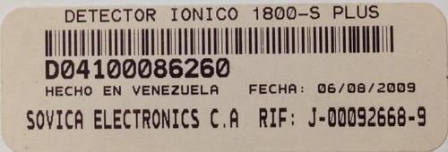 detector ionico sovica modelo 1800-s plus kingpc 16 (tienda)