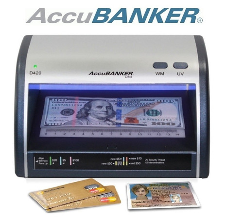 detector led uv wm billete falso dolar euro accubanker d420
