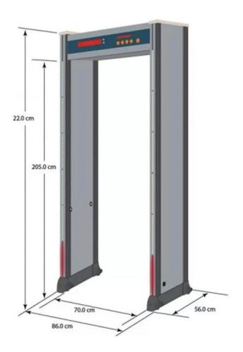 detector metal tipo arco para 6 zonas seguridad tiendafisica