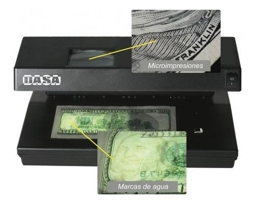 detector portatil billetes dasa 9w prof. peso dolar falsos