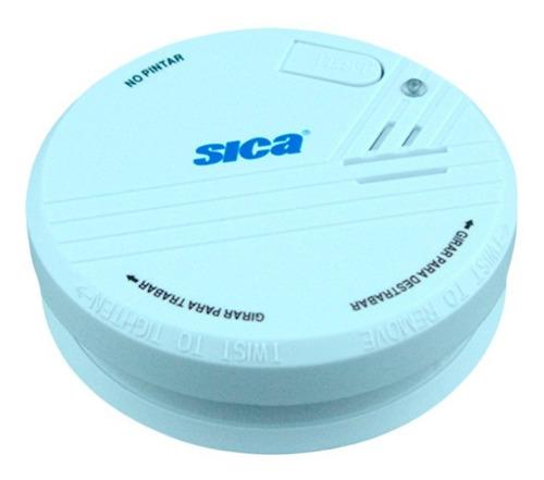 detector sensor de humo autónomo c/batería 9vcc sica