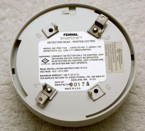 detector sensor humo inteligente fenwal fotoelectrio psd7152