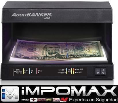 detector uv billetes falsos dolar euro accubanker d63 banco